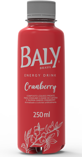 Energético Baly Cranberry 250 ml Pet  x 12 un.