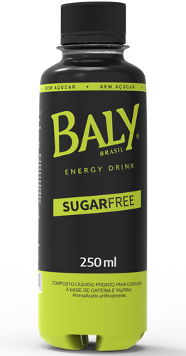 Energético Baly Sugar Free 250 ml Pet  x 12 un.